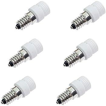 Fineled 6 Pack Of E14 To G9 Led Bulb Base Adapter Converters Light Sockets Lamp Holder