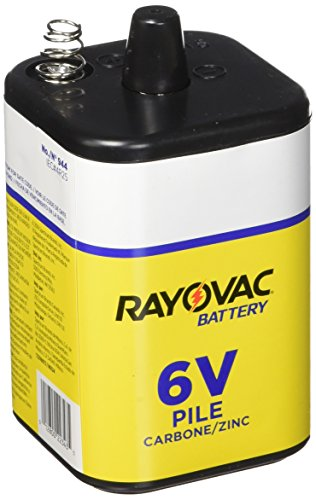 (Rayovac 944-2R: 6-Volt Heavy Duty Lantern Battery with Spring Terminals - 2 Pack)