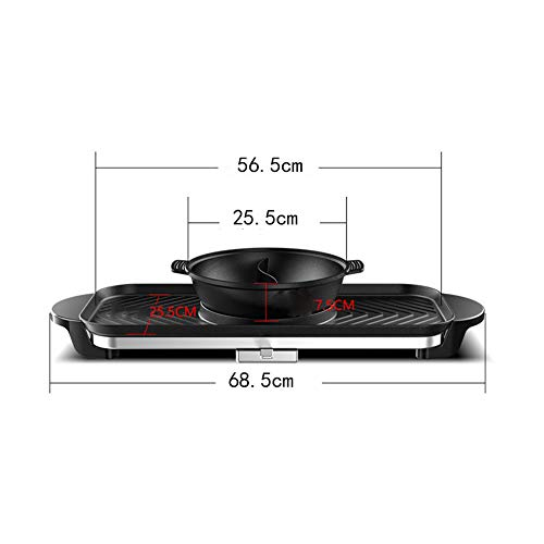 JINPENGRAN Home Smokeless Barbecue Electric Oven, Barbecue Electric Hot Pot One Pot, Large Electric Baking Pan, Can Be Grilled, Fried, Boiled, Braised,Large Capacity by JINPENGRAN (Image #5)