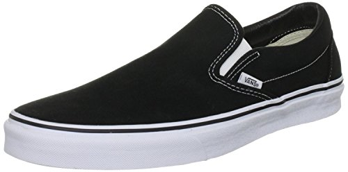 Vans Unisex Classic Slip On Sneakers Black - Slip On Black Classic