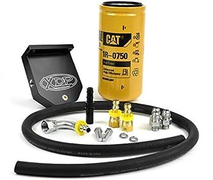 Amazon Com Xdp Billet Aluminum Cat Fuel Filter Adapter Kit Xd381 Compatible With 2010 2018 Dodge Ram 6 7 Cummins Diesel Automotive