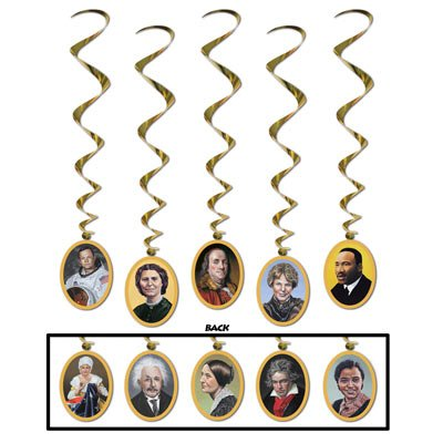 Faces In History Whirls   (5/Pkg) ()