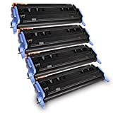 Printronic Remanufactured Toner Cartridge Replacement for HP 124A Q6000A Q6001A Q6002A Q6003A (1 Black 1 Cyan 1 Magenta 1 Yellow) 4 Pack, Office Central