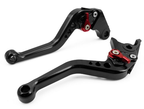 Suzuki 2001 Gsxr600 (LUO Short Brake Clutch Levers for Suzuki GSXR600 1997-2003,GSXR750 1996-2003,GSXR1000 2001-2004,SV650 2016-2017,TL1000S 1997-2001 Black)