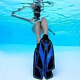 Split Snorkel Fins, Full Foot Diving Fins and Scuba