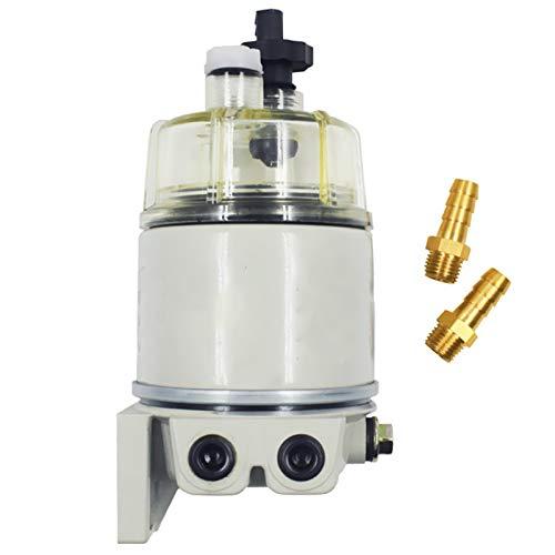 4-19 Complet de Filtre Combo TOOGOO Moteur de Filtre de S/éParateur de Carburant//Eau R12T pour Racor 140R 120At S3240 Npt Zg1