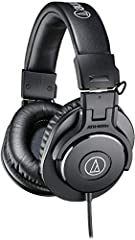 The M-Series ATH-M30x professional monitor headphones combine modern engineering and high-quality materials to deliver a comfortable listening experience, with enhanced audio clarity and sound isolation. Tuned for highly detailed audio, with ...