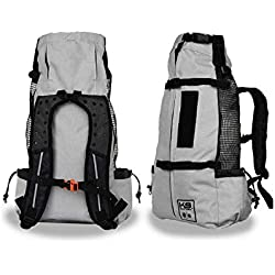 K9 Sport Sack | Dog Carrier Backpack for Small and Medium Pets | Front Facing Adjustable Pack with Storage Bag | Fully Ventilated | Veterinarian Approved (Large, Air - Charcoal Grey)