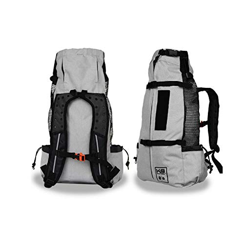 K9 Sport Sack | Dog Carrier Backpack for Small and Medium Pets | Front Facing Adjustable Pack with Storage Bag | Fully Ventilated | Veterinarian Approved (Medium, Air - Charcoal Grey)
