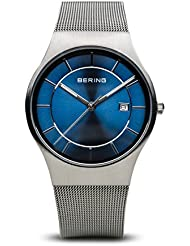 BERING Time 11938-003 Men Classic Collection Watch with Stainless-Steel Strap and scratch resistent sapphire crystal...
