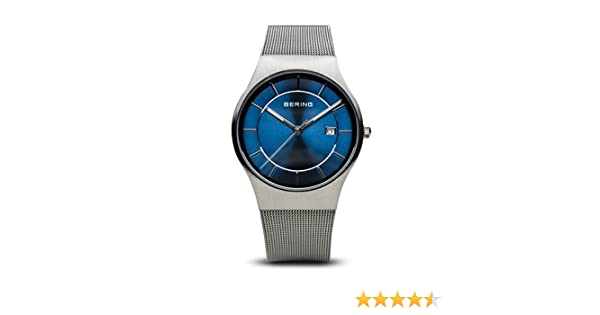 Amazon.com: BERING Time 11938-003 Men Classic Collection Watch with Stainless-Steel Strap and Scratch Resistent Sapphire Crystal.