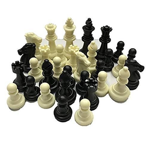 Piezas de ajedrez Medievales / Plastic Complete Chessmen International Word Chess Game Entertainment Black & White…