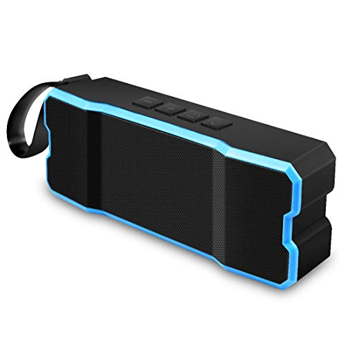 Portable Outdoor,Shower Bluetooth Speaker with 12 Hour Rechargeable Battery Life,A Memory Card As A Gift,IP65 Waterproof,10M,Dust proof,Drop Resistance ,Pairs with All Bluetooth Devices (Blue)