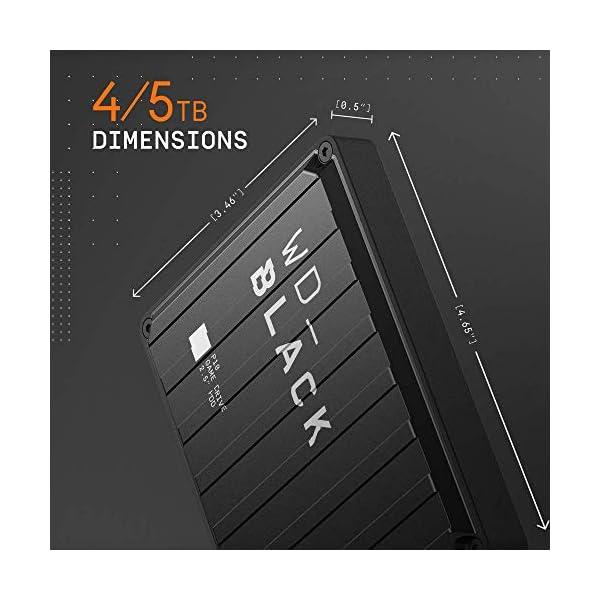 WD_BLACK P10 Game Drive 4 TB, HDD Portatile per Accesso in Mobilità alla Tua Libreria di Giochi, Compatibile con Console o PC 2 spesavip
