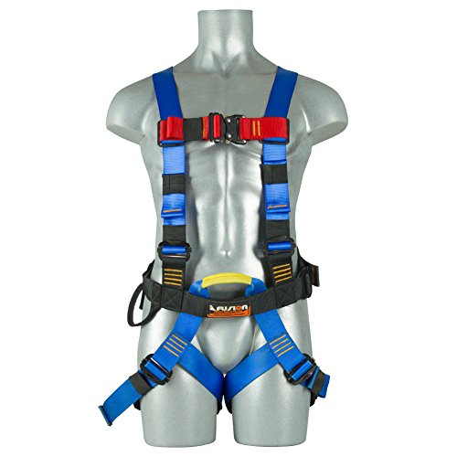 Fusion Climb TCH-107-2FB-S Full Body Climbing Harness, Blue Black, One Size