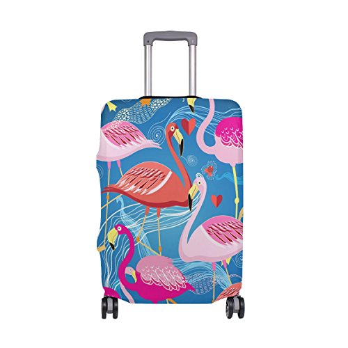 Hello Welcome Tropical Flamingo Floral Heart Love Valentines Suitcase Luggage Cover Protector for Travel Kids Men Women by ALAZA (Image #7)