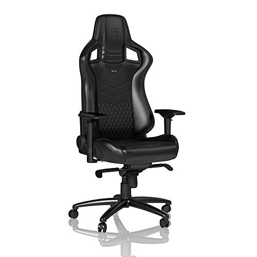 noblechairs Epic Gaming Chair - Office Chair - Desk Chair - Nappa Leather - Black - Black Soft Nappa Leather