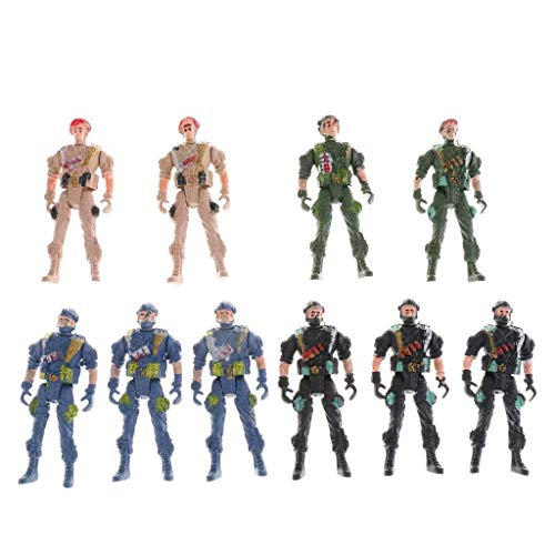 - KODORIA 10pcs Plastic Army Set Special Force Action Figure World War II Soldiers Toy