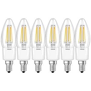 Osram 4052899962309 Led Ampul 6'Lı Paket, 4.5 W, E14, Sarı