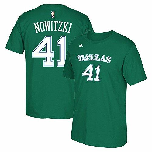 Mavericks Green (Dirk Nowitzki Dallas Mavericks Hardwood Classics Kelly Green Shirt (Medium))