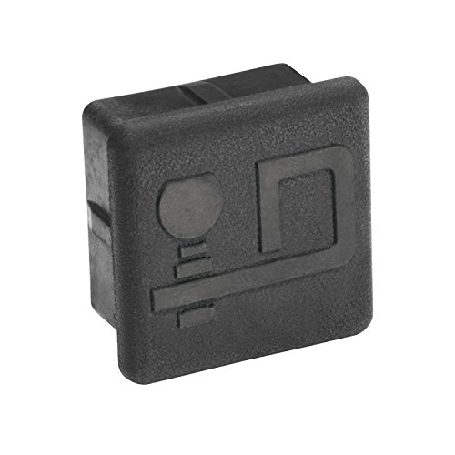Draw-Tite Rubber Economy Receiver Tube Cover with D Logo for 2-Inch Square Receivers (Logo Hitch Tube Cover)