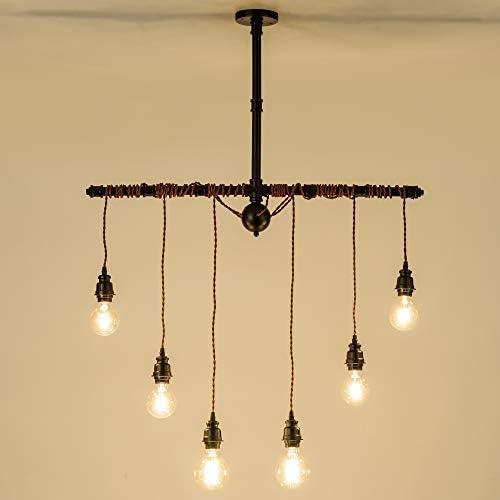 Steampunk Pendant Light, GLADFRESIT Industrial Ceiling Light