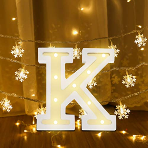 ❤Lemoning❤ LED Letter Lights Light Up White Plastic Letters Standing Hanging -