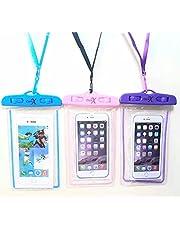 جراب هاتف مضاد للماء من CartX [3 قطع]، جراب هاتف شفاف تحت الماء مع حبل قصير متوافق مع آيفون 12 ميني/12 برو، وآيفون 11 برو ماكس، وX/Xs/Xr/Xs ماكس، و8/7، وسامسونج S21/S10/S9، ونوت 10/9/8