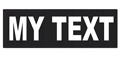Custom Tactical ID Patch - 6x2, on 500 Denier Nylon Fabric with Hook Backing - Black