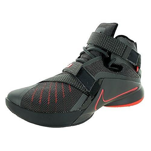 new product ba2a5 d3fa2 Nike Men s Lebron Soldier IX PRM Dark Grey Dark Grey Blk Ht Lv