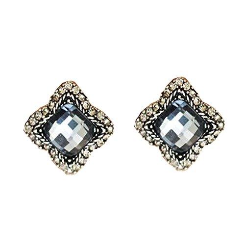 Beautiful Quality Gemstone Smoky Quartz In Silver Plated Framed Four Leaf Clover Shape Earrings For - Smoky 24k Earrings