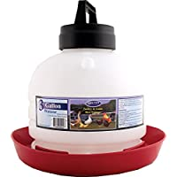 Farm Tuff P3G04 Top Fill Poultry Fountains, 3-Gallon, Red