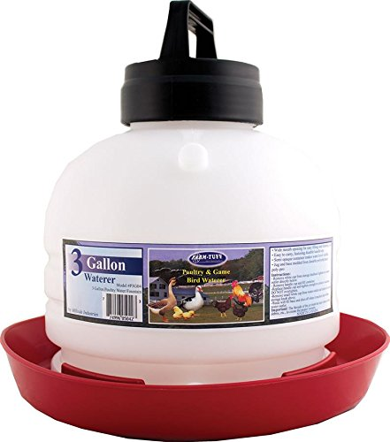 Zuo Modern Farm Tuff Top Fill Poultry Fountains, 3-Gallon