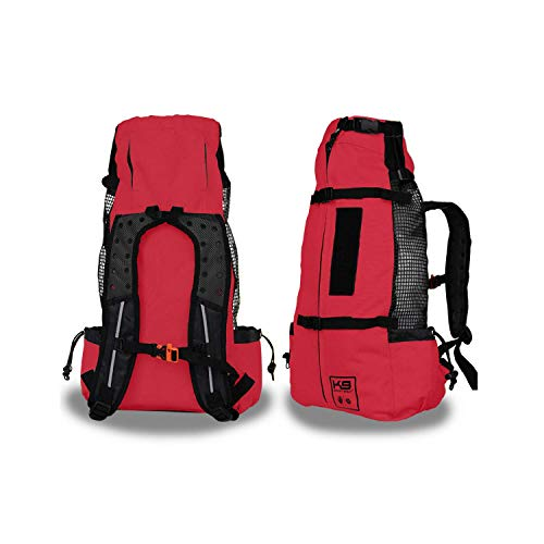 K9 Sport Sack | Dog Carrier Backpack for Small and Medium Pets | Front Facing Adjustable Pack with Storage Bag | Fully Ventilated | Veterinarian Approved (Medium, Air - Ruby Red)
