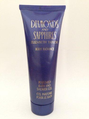 Elizabeth Taylor Diamonds & Sapphires Women Body Radiance 1.7 Oz Perfumed Bath and Shower Gel
