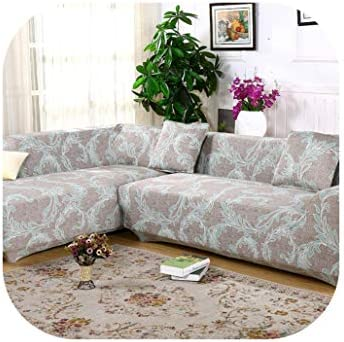 Amazon.com: 2 Pieces Covers for Corner Sofa Chaise Longue ...