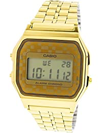#A159WGEA-9A Mens Vintage Gold Tone Chrongoraph Alarm LCD Digital Watch