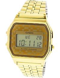 #A159WGEA-9A Mens Vintage Gold Tone Chrongoraph Alarm LCD Digital Watch · Casio
