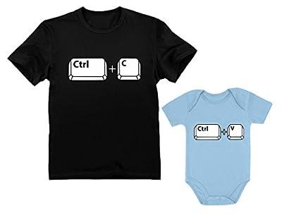 Dad & Baby Girl/Boy Copy Paste Matching Set Men's T-Shirt & Baby Bodysuit