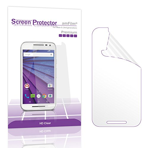 Moto G3 Screen Protector, amFilm Premium HD Clear  Screen Pr