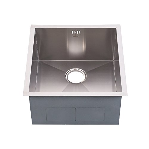19' Stainless Steel Sink (Stillori Kitchen Sink 19''x20''x10'' Undermount Single Bowl Zero-Radius 18 Gauge, 10'' Deep, Handmade, 304 Stainless Steel, D5148H)