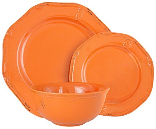 Melange Stoneware 18-Piece Dinnerware Set  | Service for 6|