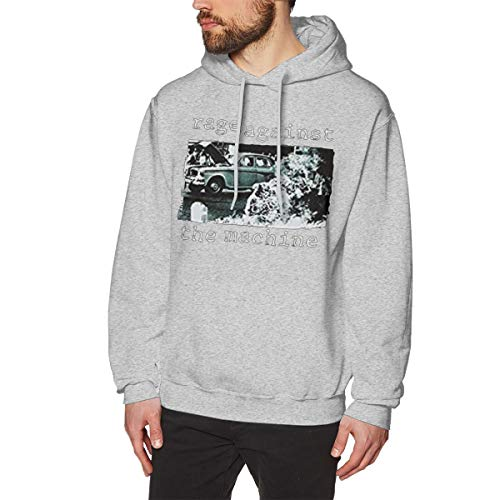 (Comilee Men's Rage Against The Machine Band Fashion Sports Fleeces Long Sleeve Gray)