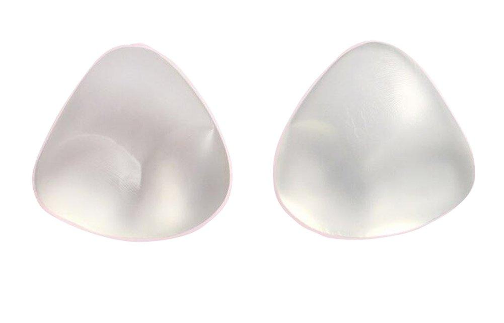 3D-Silikon-Dreieck Push-up Brust-Pads-Einsätze für Badeanzug und BH, perfekt für Triangel-Top-BHs, Bikini-Oberteile und einteilige Badeanzüge (Transparent) Elandy