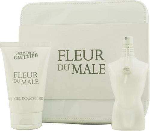 Fleur Du Male by Jean Paul Gaultier For Men. Set-edt Spray 2.5-Ounces & Shower Gel 4.2-Ounces & Pouch (Jean Paul Gaultier Le Male Shower Gel)
