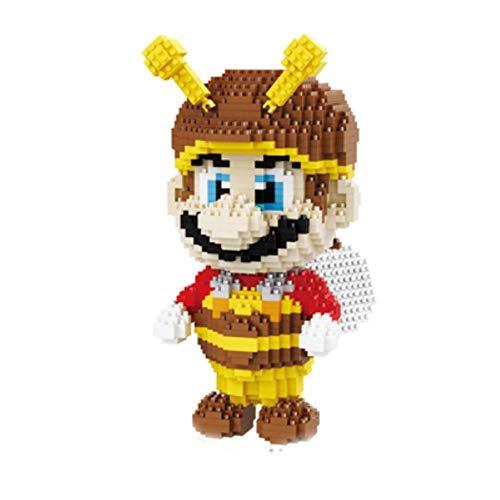 MAGIC-F Super Mario Fire Bee Mario Browser Monster One Piece Chopper 3D Model DIY Diamond Nano Blocks Mini Building Toy No Box