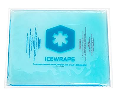 10 X 12 Reusable Gel Ice Pack / Heat Pack for Hot or Cold Compress Therapy By Icewraps