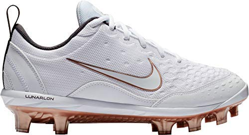 Nike Womens Hyperdiamond 2 Pro Softball Cleats (9, White/Gold)