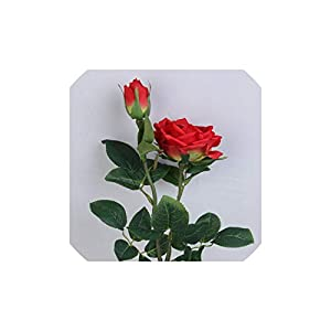 Smileshop01 Bridal Artificial Flower Heads Rose Peony Home Decoration Accessories Wedding Artificial Flowers Silk Flower,4 76