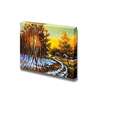 Canvas Prints Wall Art - Rural Winter Landscape - 32